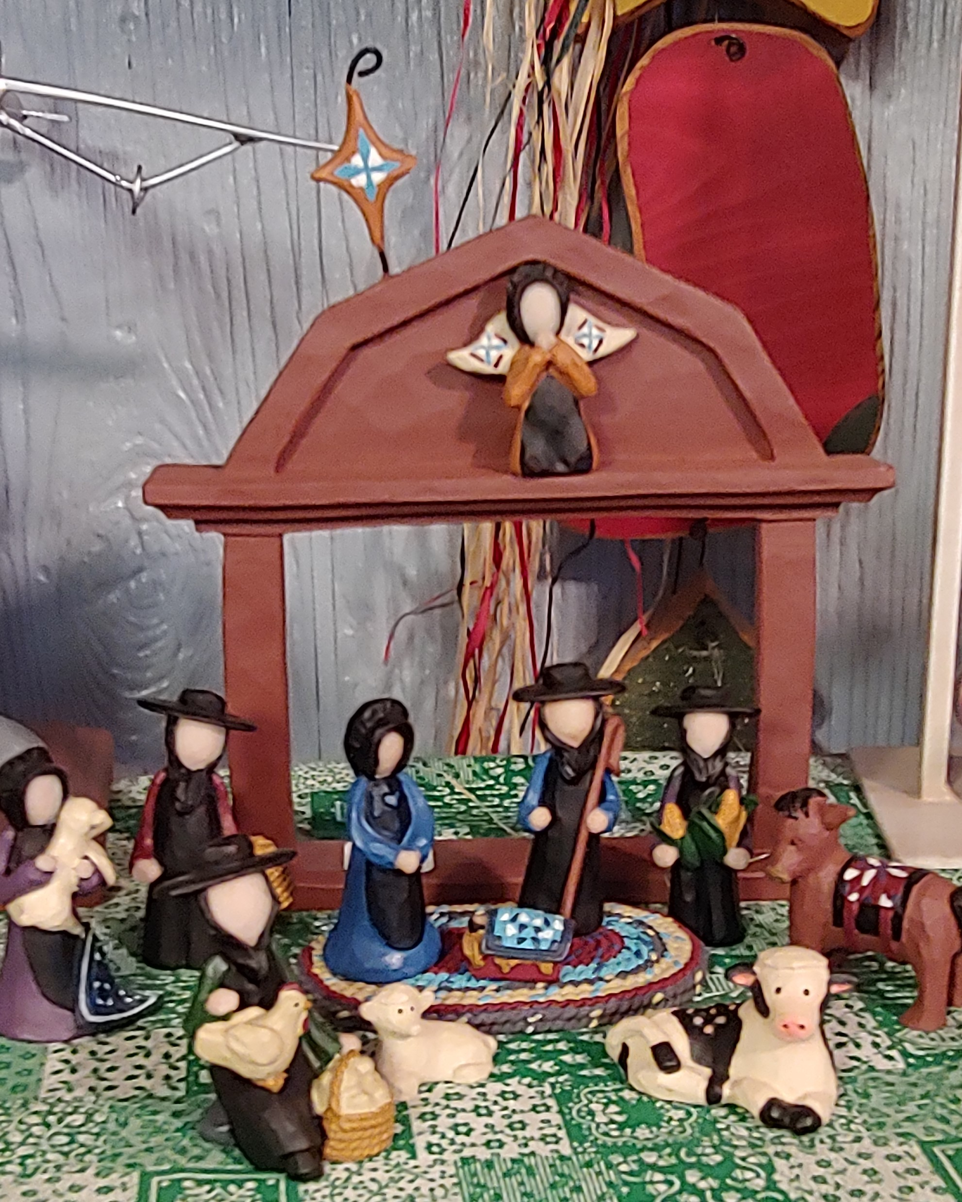 Amish Nativity Image